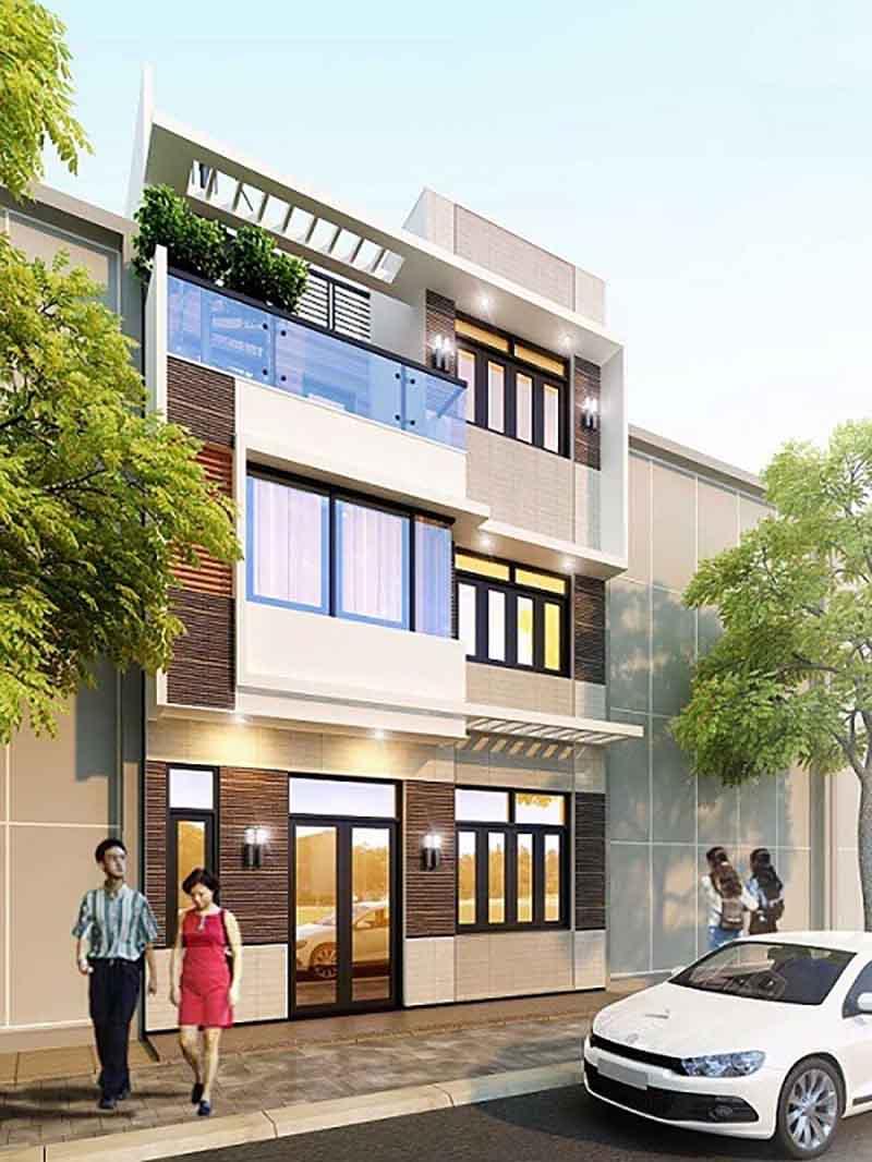 Đã mắt với mẫu thiết kế nhà phố 3 tầng hiện đại