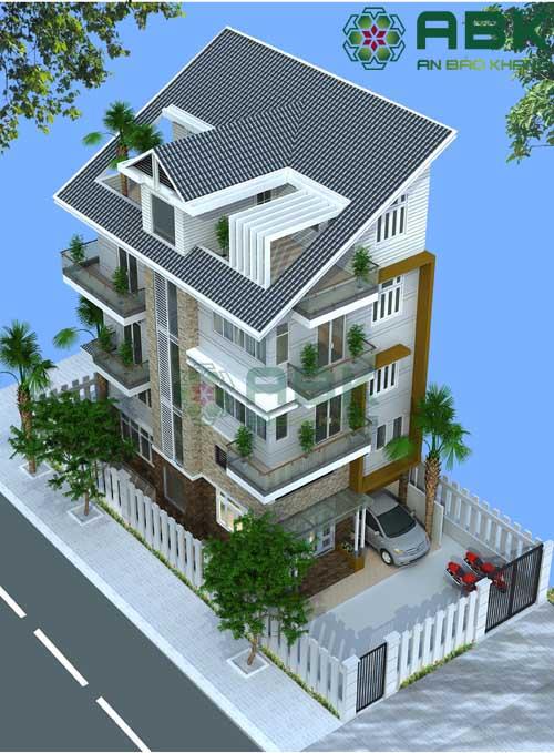 Mẫu thiết kế nhà phố 5 tầng tuyệt đẹp M04