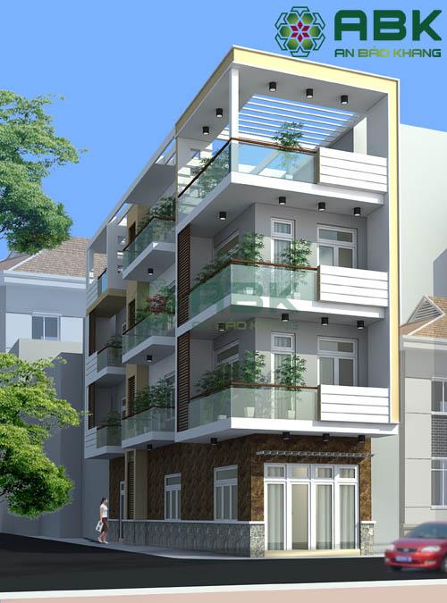 Thiết kế nhà phố 4 tầng đẹp hiện đại M03