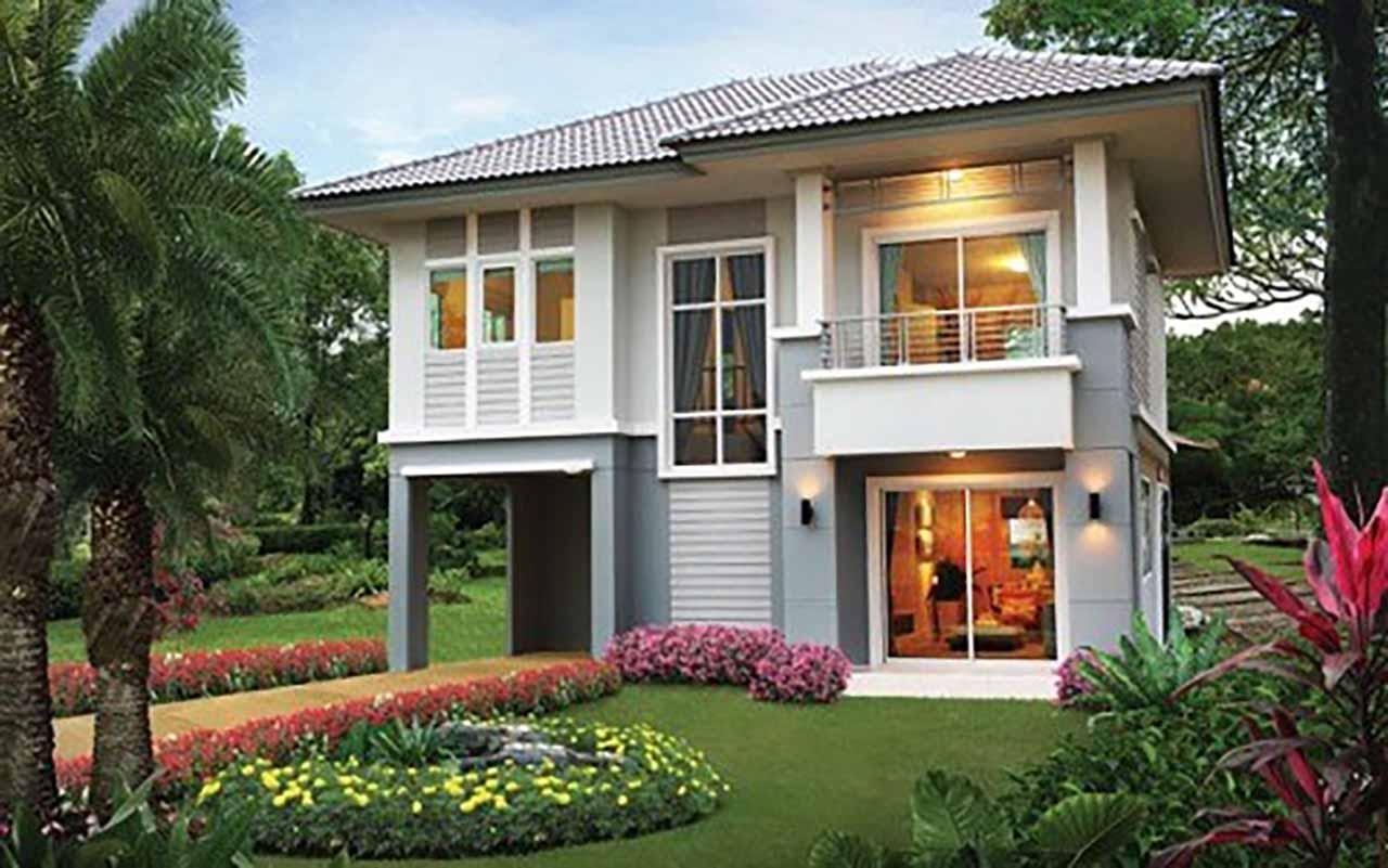 Mẫu thiết kế biệt thự vườn 2 tầng mái ngói