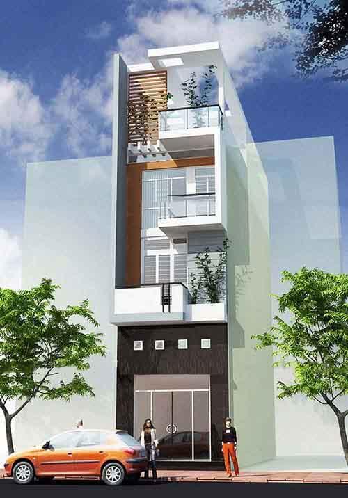 Mẫu thiết kế nhà phố 4 tầng độc đáo với 3 phòng ngủ