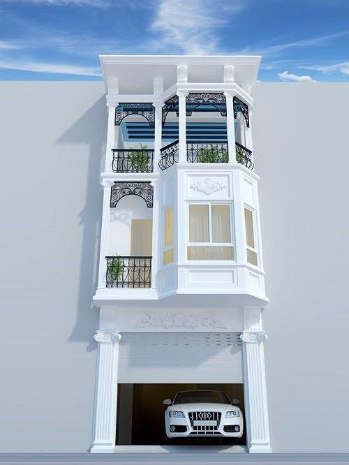 Mẫu thiết kế nhà phố cổ điển 3 tầng