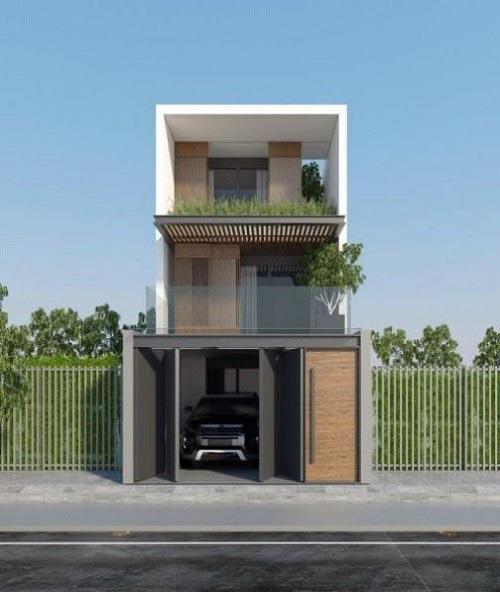 Cách tính diện tích và chi phí xây nhà 3 tầng 70m2