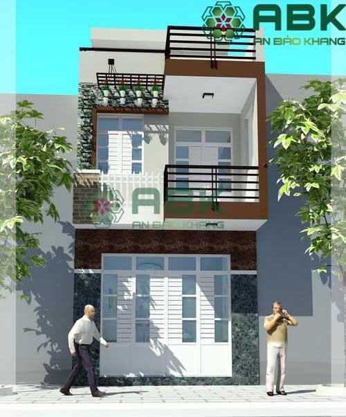 Xây nhà 2 tầng nhà anh Long Q9