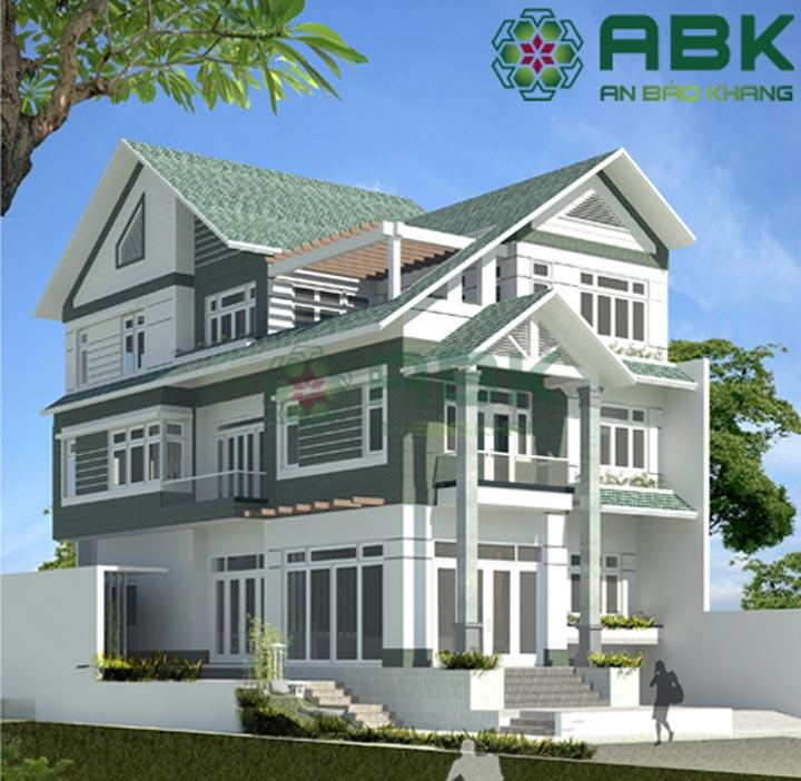 Mẫu thiết kế nhà biệt thự 4 tầng rưỡi hiện đại M017