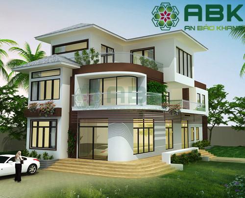 Mẫu thiết kế nhà biệt thự 2 tầng đẹp mê mẩn M12