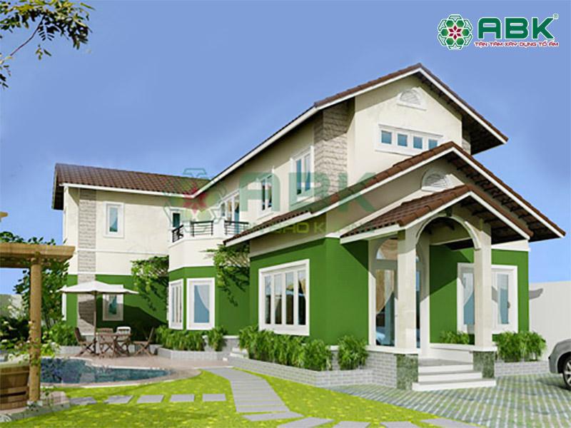 Mẫu thiết kế nhà biệt thự 2 tầng anh Nhiên quận 2