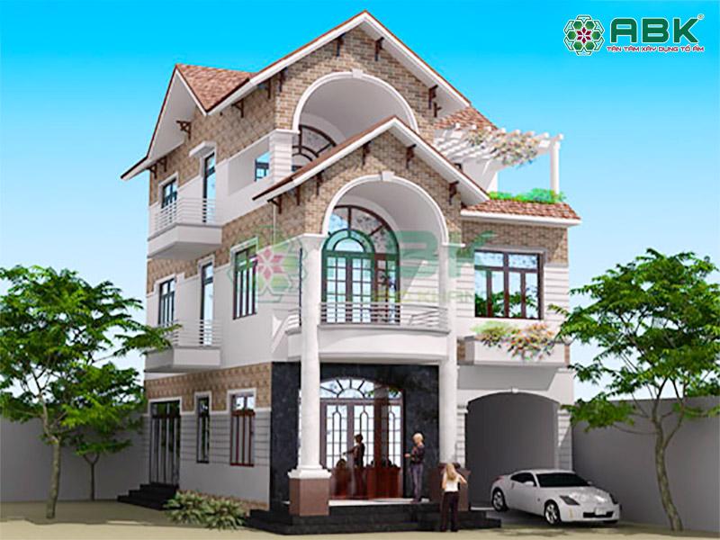 Mẫu thiết kế biệt thự 3 tầng nhà anh Thế Bình Chánh
