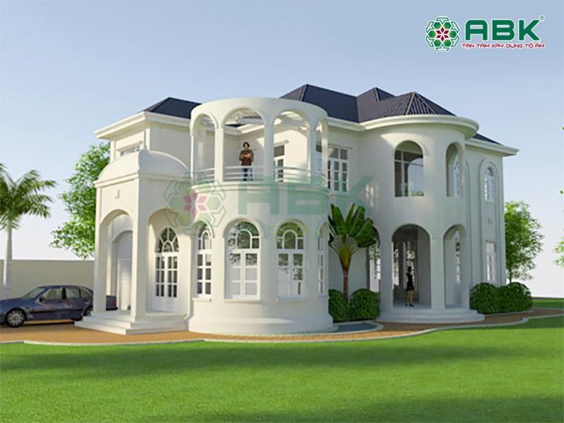 Mẫu thiết kế biệt thự 2 tầng nhà anh Qúy Hóc Môn