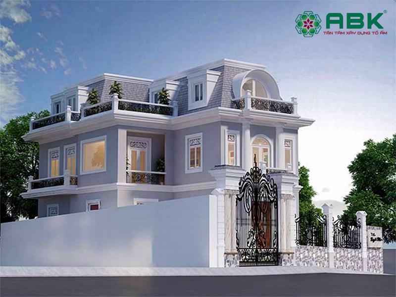 Mẫu nhà biệt thự 2 tầng cổ điển – MS01
