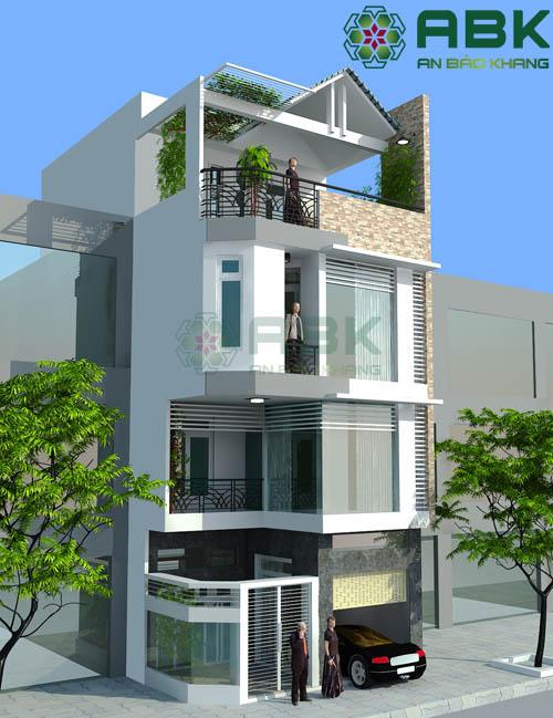 Mẫu thiết kế nhà phố 4 tầng hiện đại đẹp mê mẩn M08