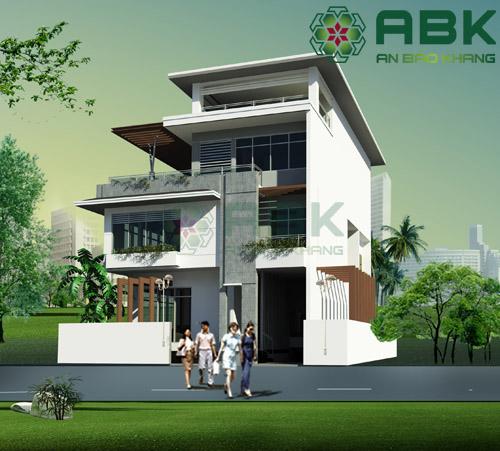 Ngắm nhiền mẫu thiết kế nhà biệt thự 3 tầng rưỡi đẹp hiện đại M016