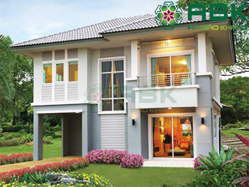 Mẫu thiết kế biệt thự 2 tầng nhà cô Ánh Hóc Môn