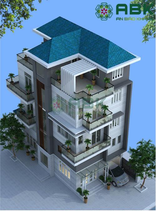 Mê mẫn với mẫu thiết kế nhà phố 5 tầng cực kỳ hiện đại M01