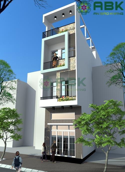 Mẫu thiết kế nhà phố 4 tầng rưỡi tuyệt đẹp M05