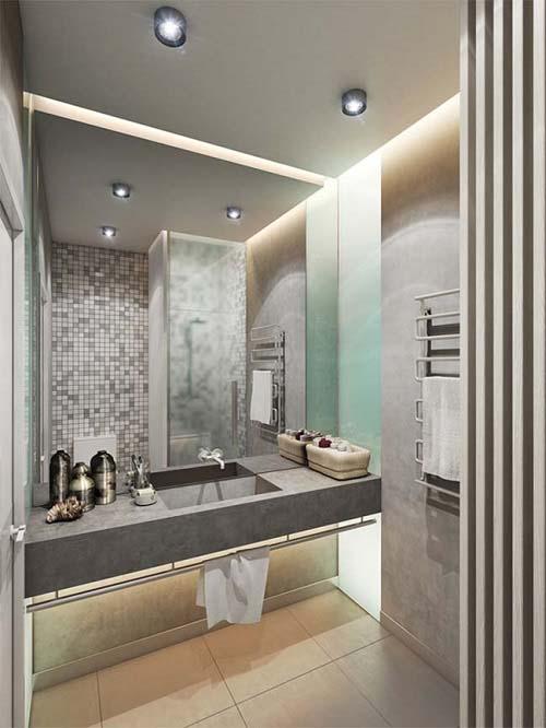 Mẫu thiết kế nội thất nhà phố 60m2 hiện đại