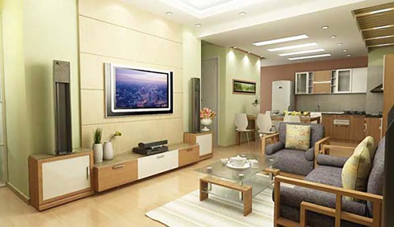 Nội thất phòng khách cho nhà chung cư