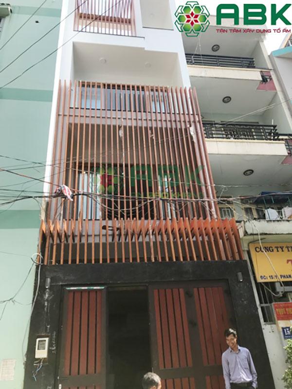 Xây nhà phố 4 tầng nhà anh Minh Tân Bình