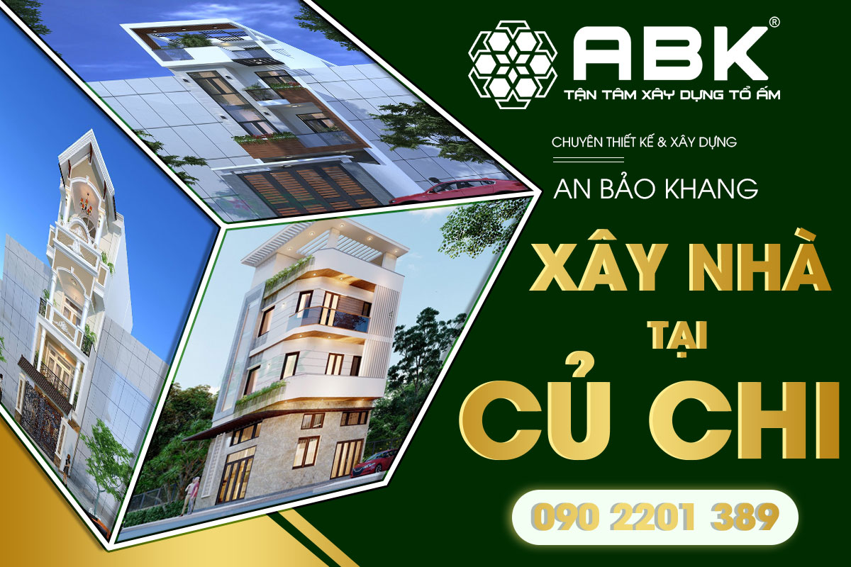 Bảng giá thiết kế và xây dựng nhà tại huyện Củ Chi