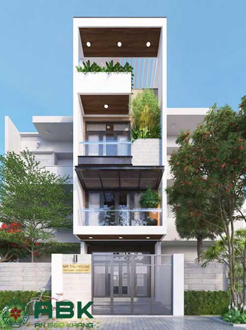 Xây nhà 4 tầng nhà Anh Tiến Quận Gò Vấp