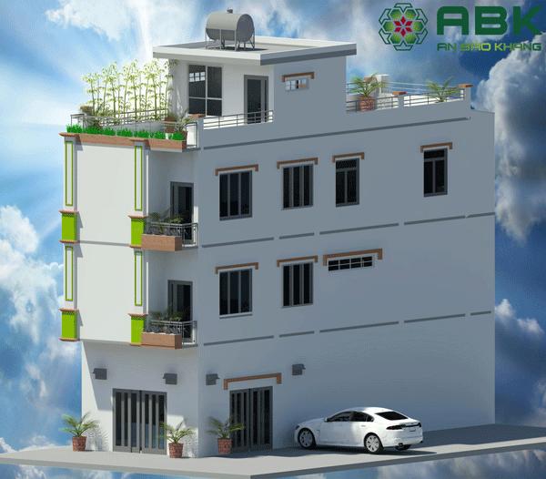 Thiết kế và Xây dựng nhà phố trọn gói 3 tầng+1 sân thượng tại TP. HCM.