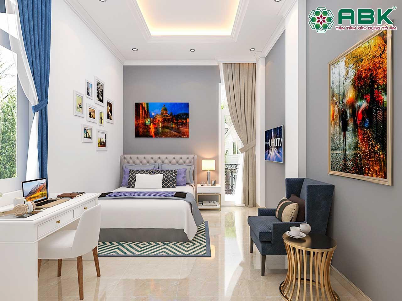 Mẫu trang trí phòng ngủ đẹp mang phong cách hiện đại