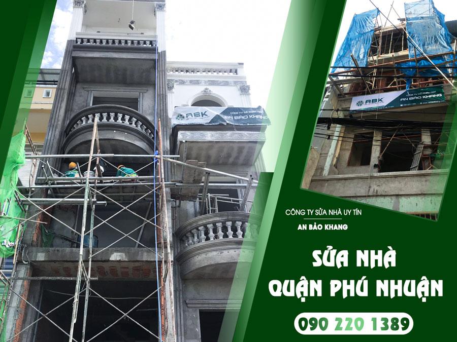 Bảng giá dịch vụ sửa chữa nhà ở Quận Phú Nhuận