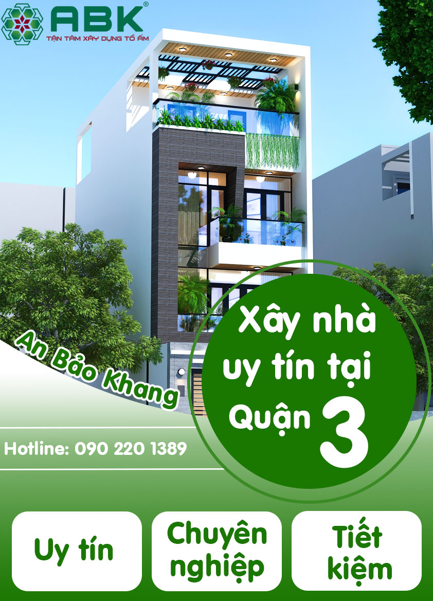 Công ty chuyên thiết kế thi công xây dựng nhà tại quận 3