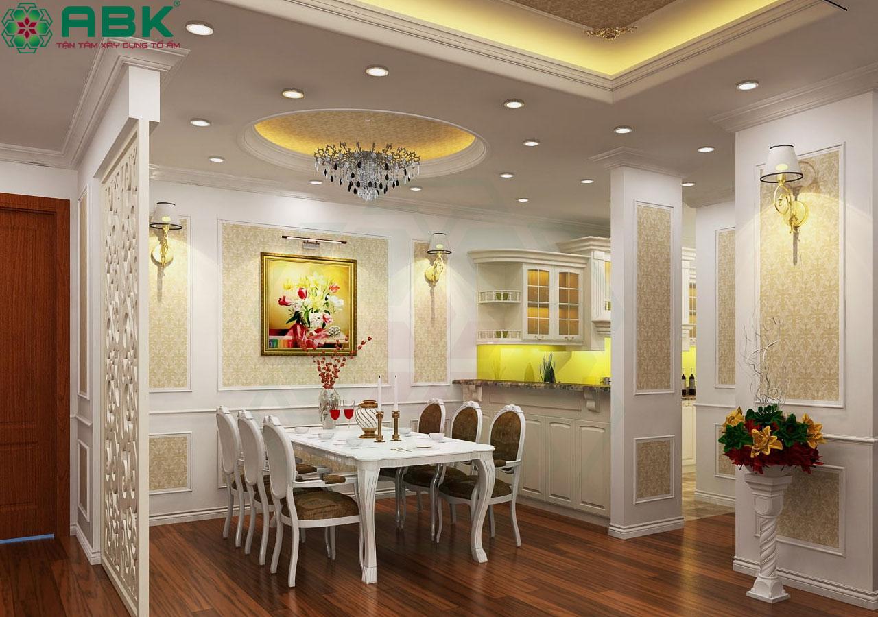 Mẫu đèn chùm trang trí phong cách cổ điển cho phòng ăn