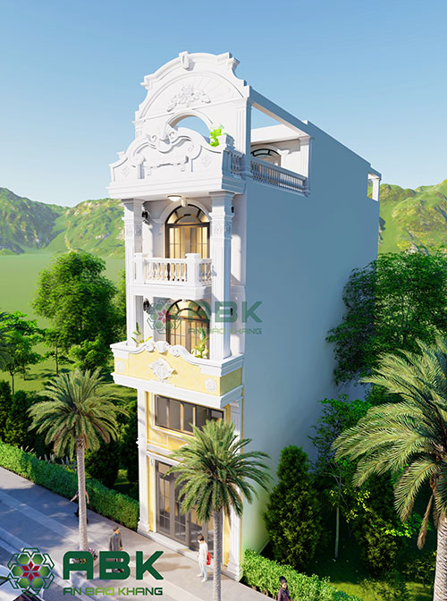Thiết kế nhà phố kiến trúc cổ điển