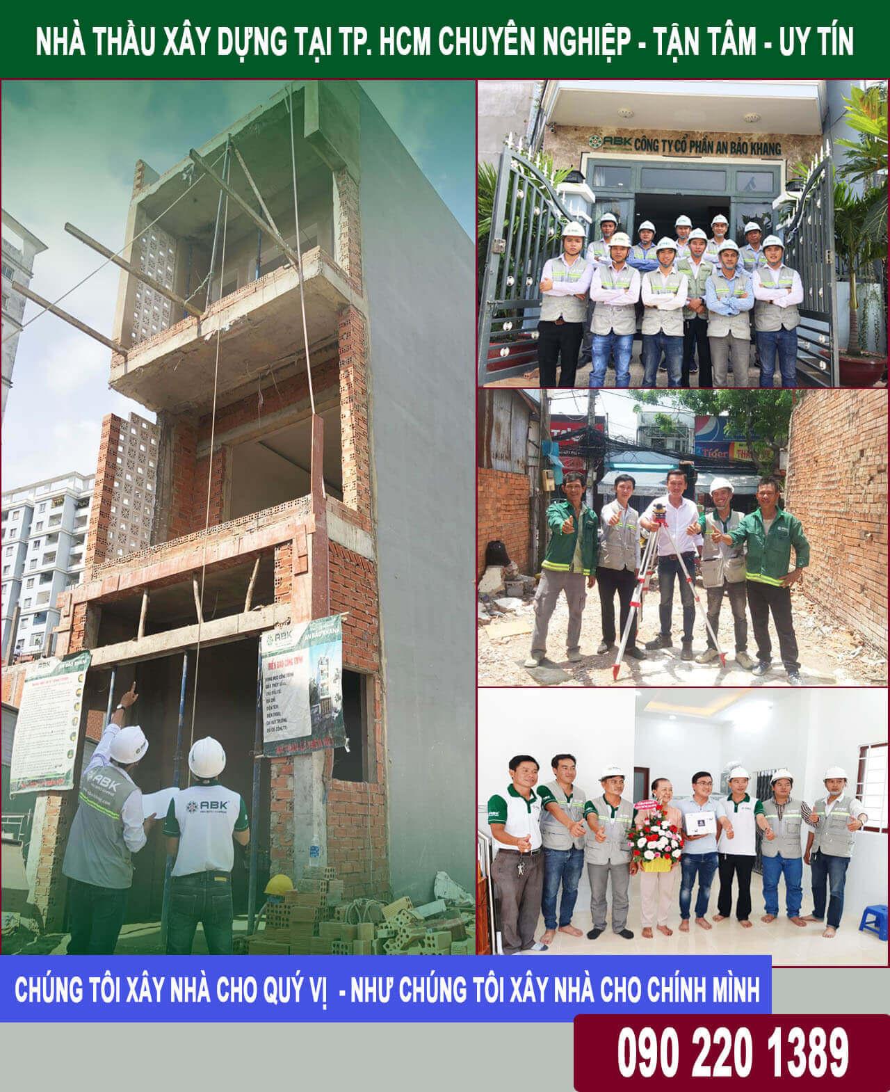 Nhà thầu xây dựng nhà chuyên nghiệp tại Tp HCM