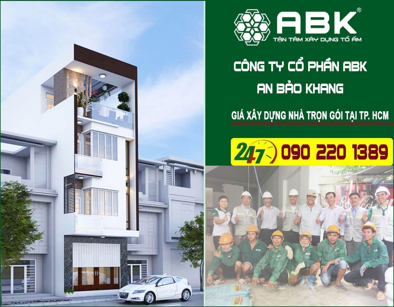 giá xây dựng nhà trọn gói