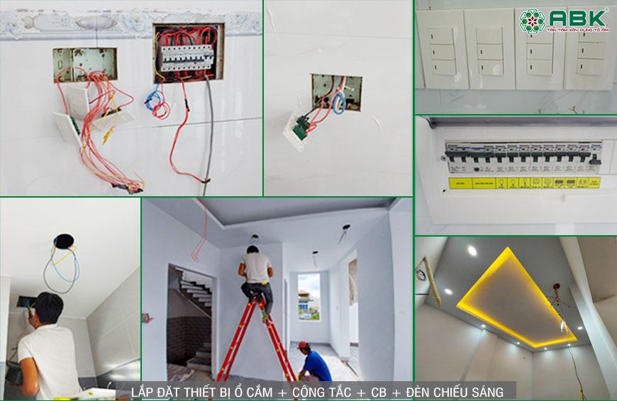 Lắp đặt hệ thống điện và đèn chiếu sáng