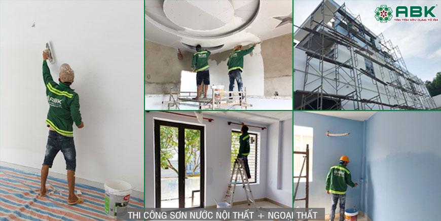 Thi công sơn nước nội thất và ngoại thất