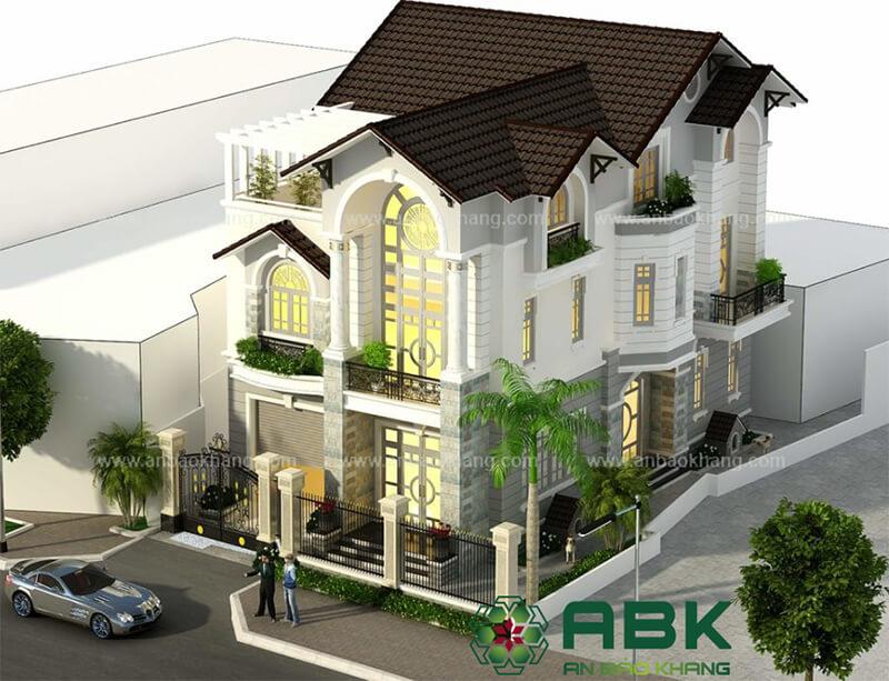 Mẫu thiết kế nhà biệt thự kiến trúc bán cổ điển Quận 7