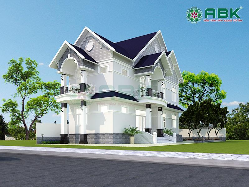 Mẫu thiết kế nhà biệt thự 2 tầng tại Hóc Môn