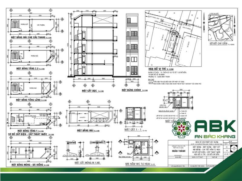 Tuân thủ các thông số, kích thướt để thiết kế và xây dựng nhà đúng với giấy phép