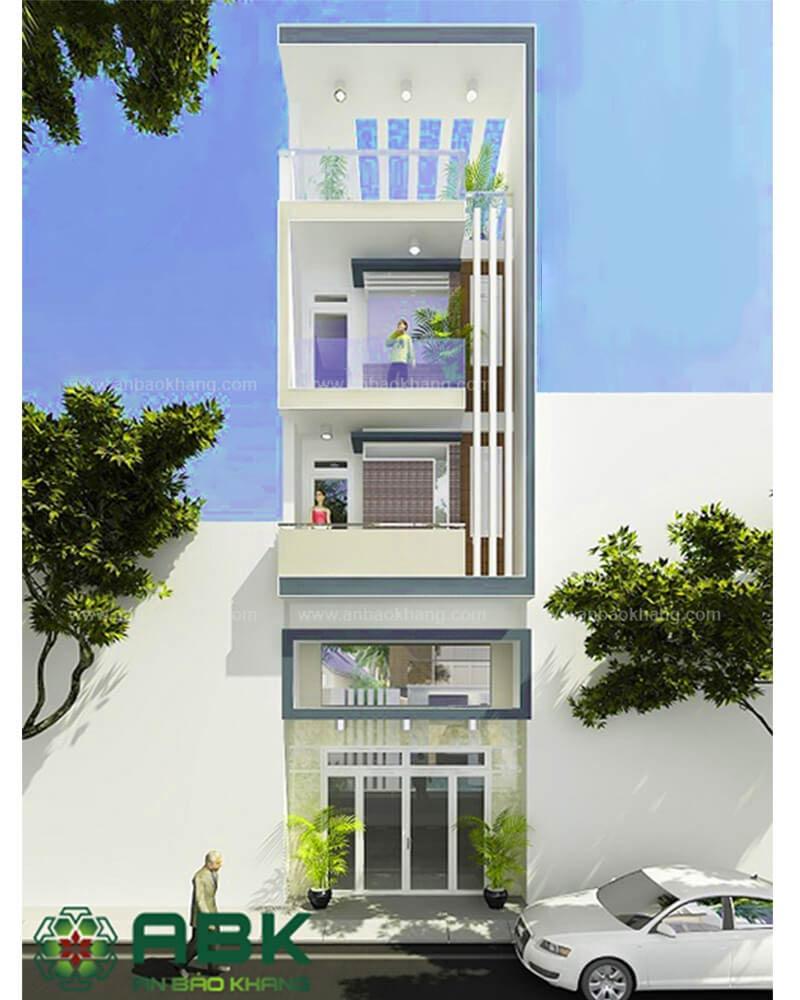 Mẫu thiết kế nhà phố M09 tại quận Tân Phú