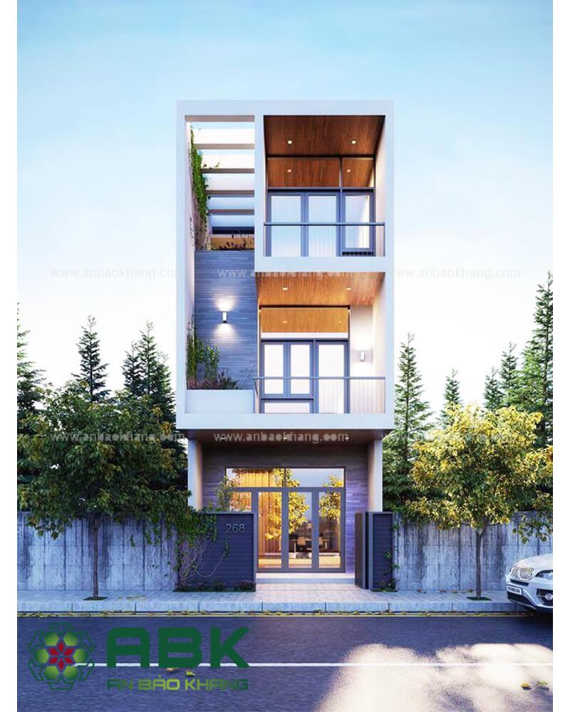 Mẫu thiết kế nhà phố đẹp hiện đại tại Bình Thạnh M17