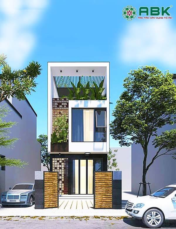 Mẫu thiết kế nhà phố 3 tầng đẹp tại quận 9 Tp HCM M15