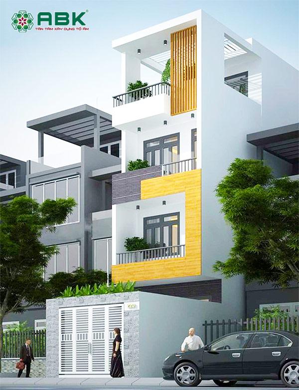 Mẫu thiết kế nhà phố liền kề 4 tầng tại quận 2