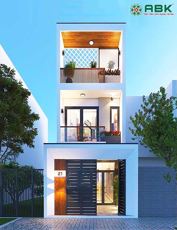 Mẫu thiết kế nhà phố 3 tầng đẹp – MS21 Quận Tân Bình