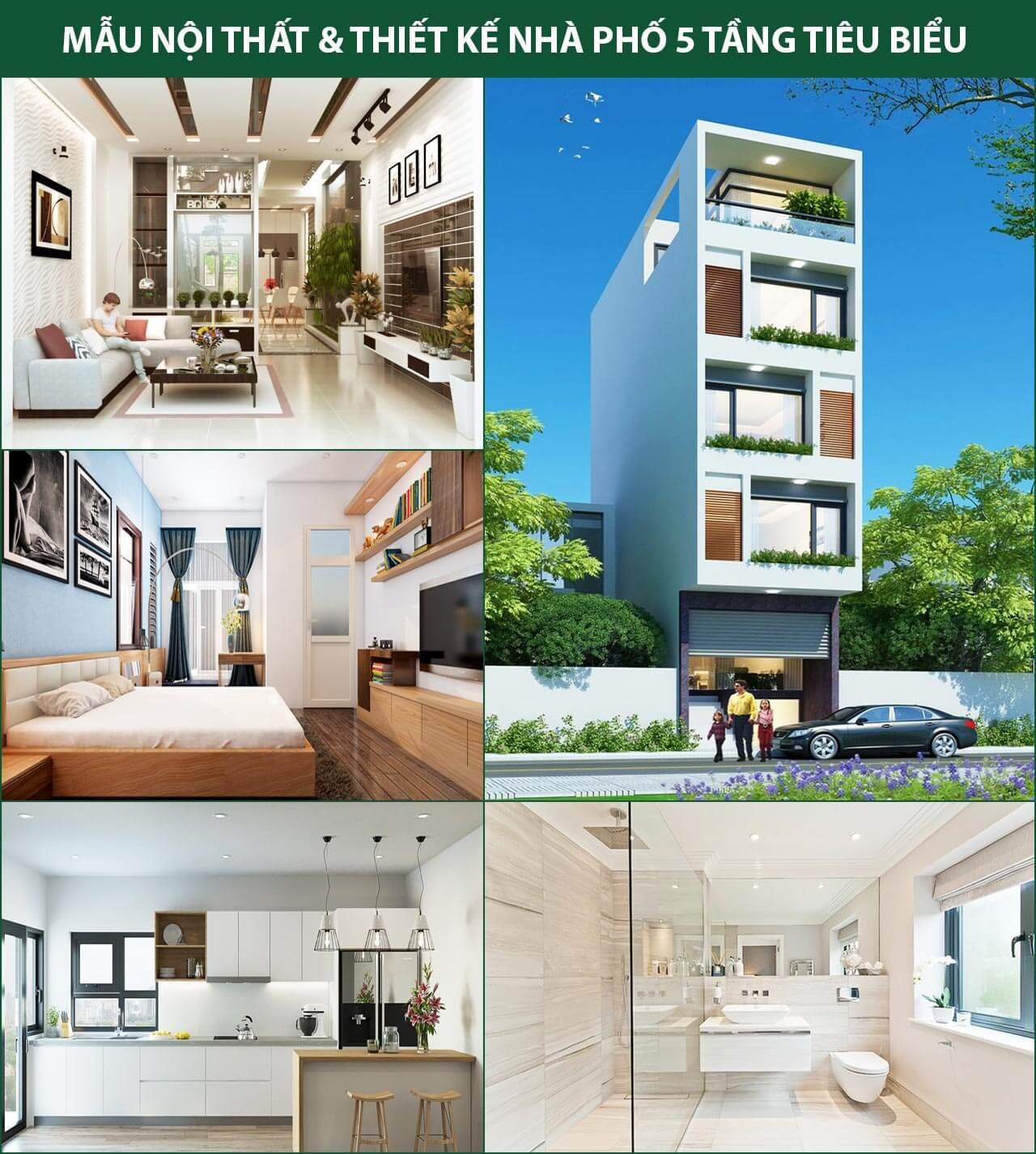 Chi phí xây nhà 5 tầng 60m2