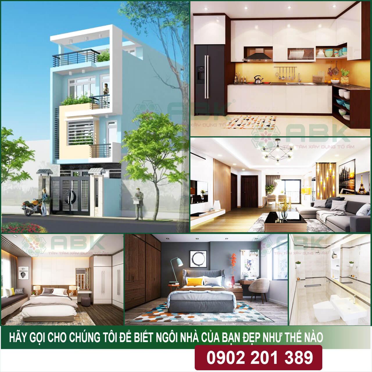 Chi phí xây nhà 4 tầng 50m2