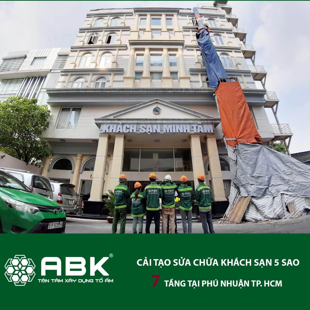 Khởi công sửa chữa cải tạo khách sạn 7 tầng – Phú Nhuận
