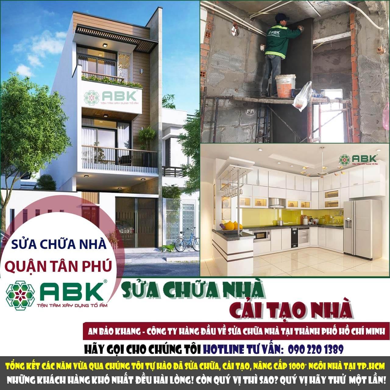 Công ty sửa chữa cải tạo nhà quận Tân Phú