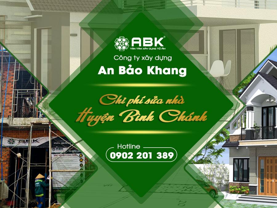 Bảng báo giá sửa chữa nhà trọn gói tại Huyện Bình Chánh