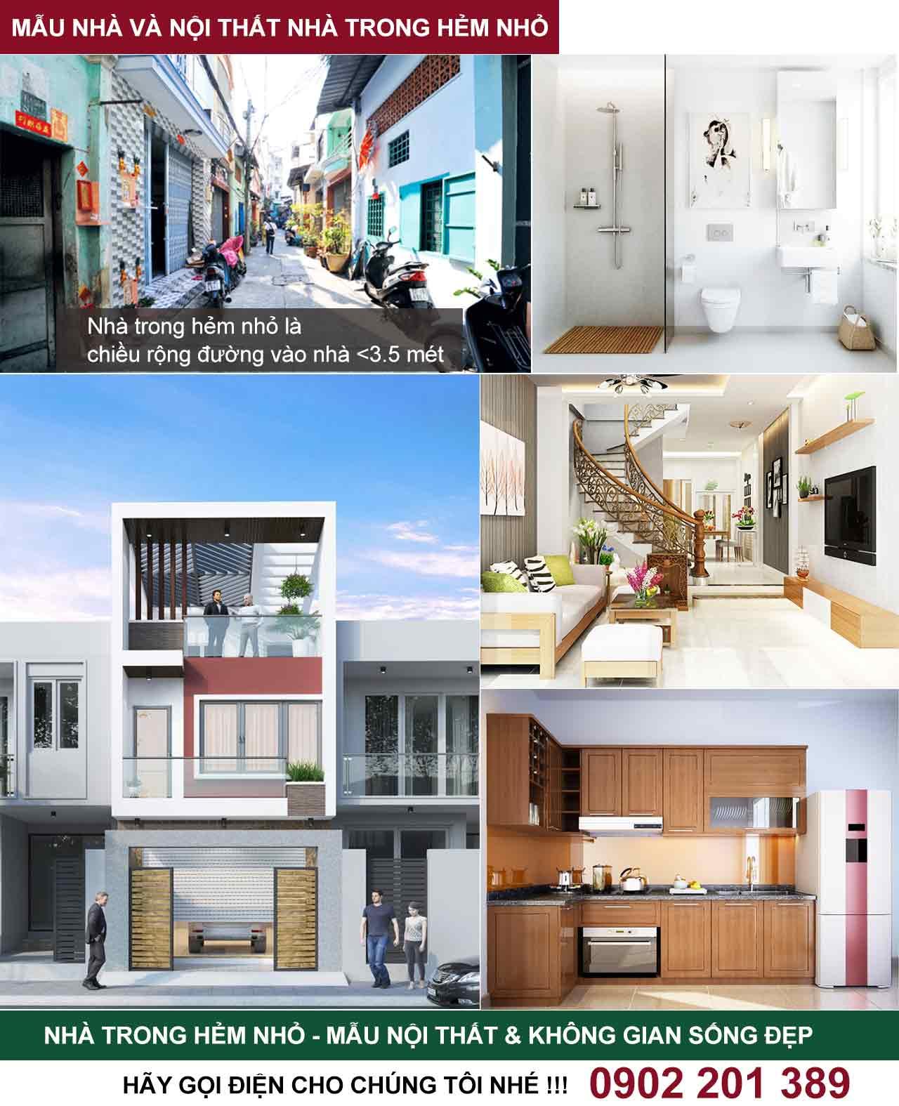 Giá xây nhà trọn gói trong hẻm nhỏ