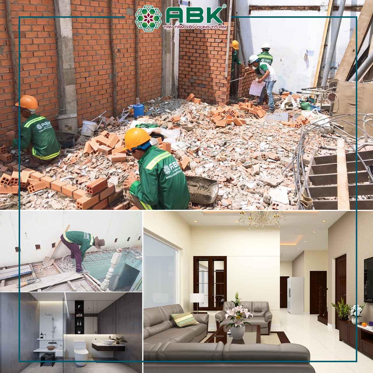 Khởi công sửa nhà anh thạch quận Bình Thạnh