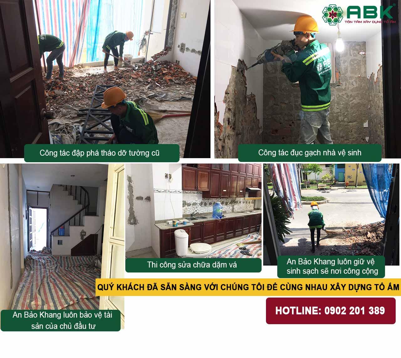 sửa chữa nhà 4 tầng quận 8
